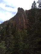Rock Climbing Photo: The North face of Exemplar Tower.