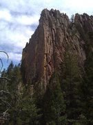 Rock Climbing Photo: The North and West faces of Exemplar Tower.