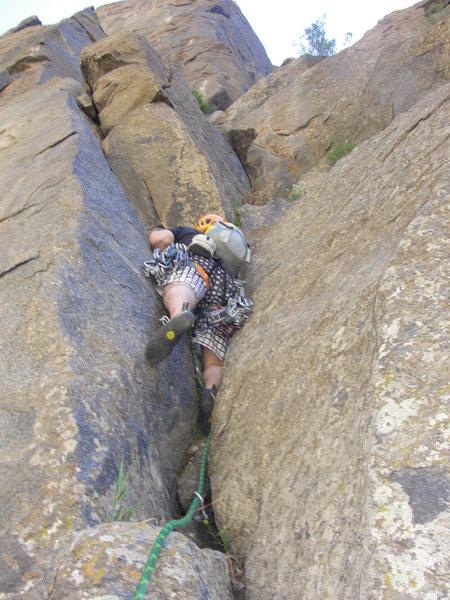 Rock Climbing Photo: Taylor Roy on the amazing 3rd pitch.  Climb nice f...