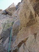 Rock Climbing Photo: Following the 4th pitch.  Follow large, mostly sol...