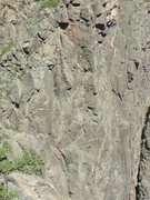 Rock Climbing Photo: Picture of pitches 3-5 of The World According to G...