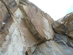 Rock Climbing Photo: Only Entertainment goes up the slab to the bottom ...