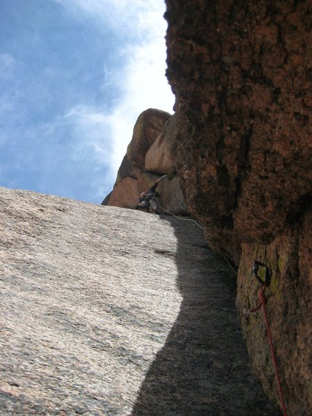 Me about to do the changing cracks crux.