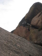 Rock Climbing Photo: Pulling the changing cracks move.  Thanks to Dusti...