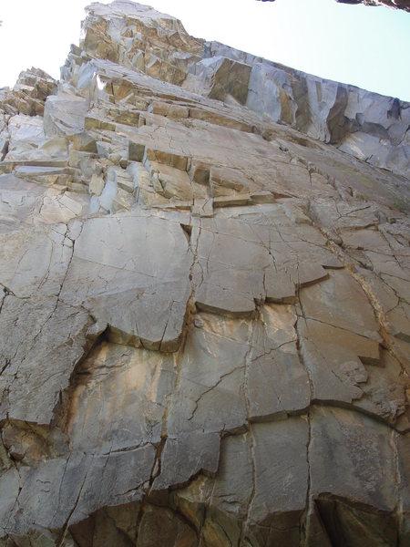 Rock Climbing Photo: Start of The Cement Garden.  It follows the steppe...