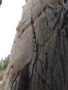 Rock Climbing Photo: The top half of The Cement Garden.  Follow the thi...