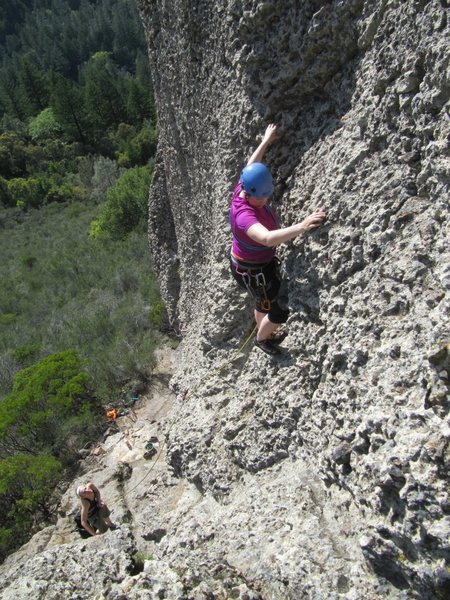 Rock Climbing Photo: Another first lead on Food Baby - it looks   steep...