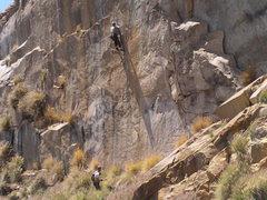 Rock Climbing Photo: Steve nearing the anchor.