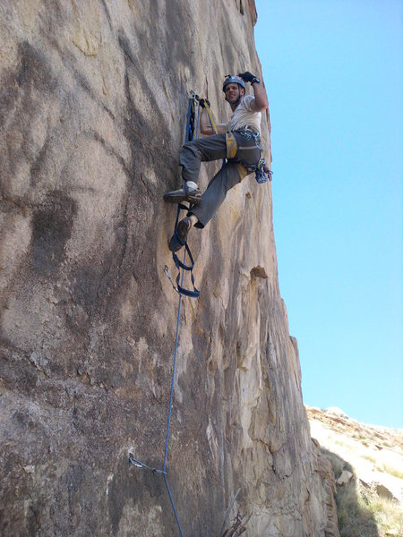 Rock Climbing Photo: Nate on 'Bat Hooks Gone Wild'.