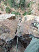 "Rock Climbing Photo: Looking down ""Grand Course"" about mid-ro..."