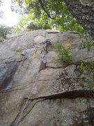 Rock Climbing Photo: Mike Gray on Sauron's Bolt of Horror, 5.10c