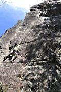 Rock Climbing Photo: jaysen henderson at the base of the finger crack s...