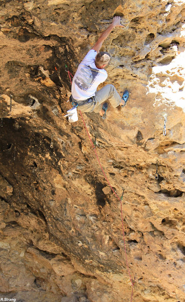 Rock Climbing Photo: Climbing to the chains New #1 (5.12-)