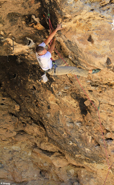Rock Climbing Photo: Passing the crux New #1 (5.12-)