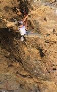 Rock Climbing Photo: Passing the crux New #1 (5.12-)