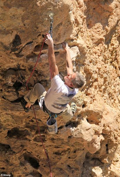 Rock Climbing Photo: Ed at the crux Botox (5.11)