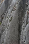 Rock Climbing Photo: Leading Dead Man Walking (5.9) at the Dihedrals Wa...