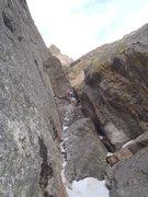 Rock Climbing Photo: Chris on the crux.