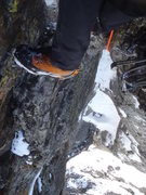 Rock Climbing Photo: Looking down from the top of all the hard climbing...