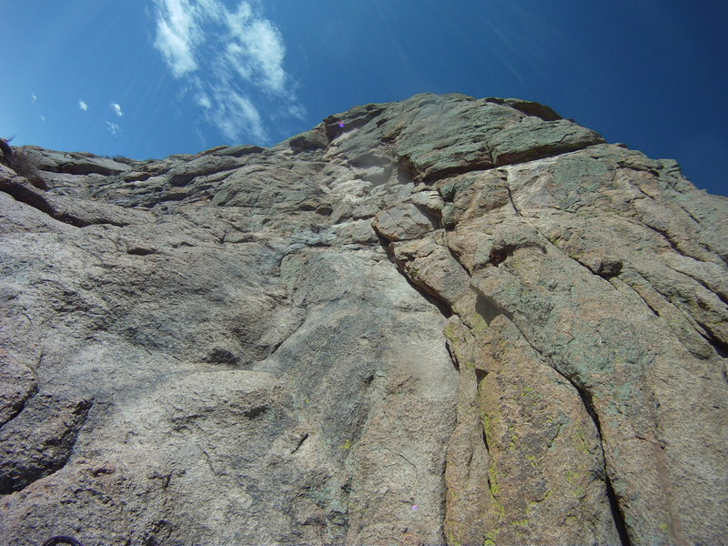 Rock Climbing Photo: From our belay on top of the 1st pitch.