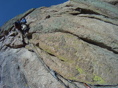 Rock Climbing Photo: Starting the 2nd pitch and just about to start the...