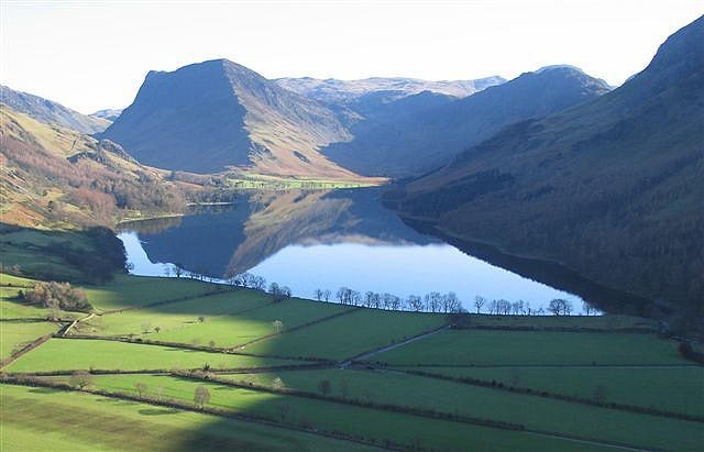 Rock Climbing Photo: Buttermere Lake The left skyline on the central hi...