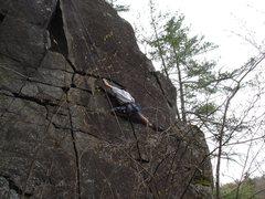Rock Climbing Photo: Clay Nadeau doing something crazy...