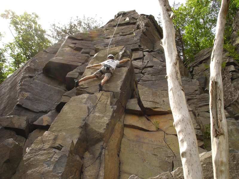 Rock Climbing Photo: One of the tallest climbs for the area....and yes,...