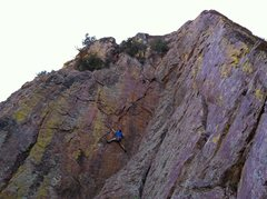 Rock Climbing Photo: Steeper and more burly as you head up.
