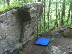 Rock Climbing Photo: Campus arete-side view