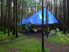 Rock Climbing Photo: Big blue tarp at Colins Camp