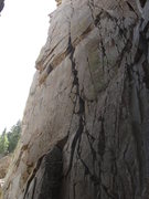 Rock Climbing Photo: Jenga Butress Crack is the wide crack on the right...