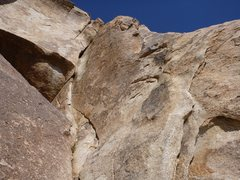 Rock Climbing Photo: For 5.7, get to the steep crack that starts after ...
