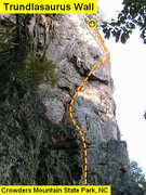 Rock Climbing Photo: Trundlasaurus Wall  Tyrannosaurus Rox (5.10)   Cro...
