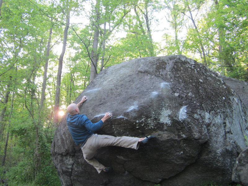 Rock Climbing Photo: Creekside Traverse, V6, Governor Stable