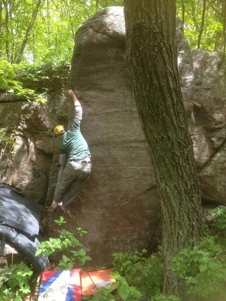 Rock Climbing Photo: Jacob on Thumbs Up.