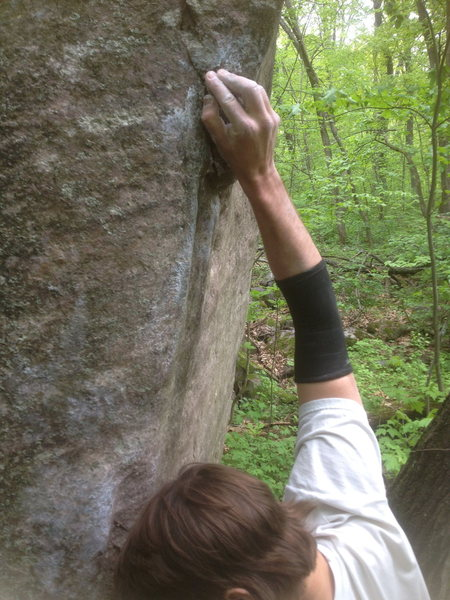Rock Climbing Photo: The thumb hold