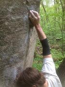 Rock Climbing Photo: The thumb hold