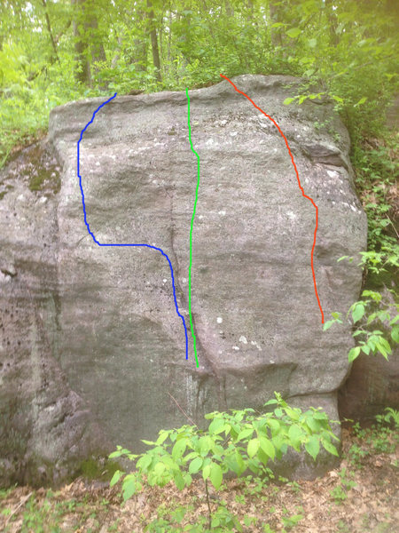 Rock Climbing Photo: The green line is centerpede