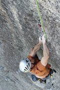 Rock Climbing Photo: Baldy, Pitch 4, perfect finger crack