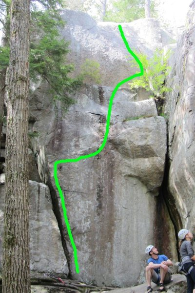 Rock Climbing Photo: This is the line, very fun... let me know if it go...