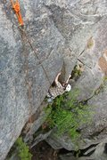 Rock Climbing Photo: Travis on the crux...