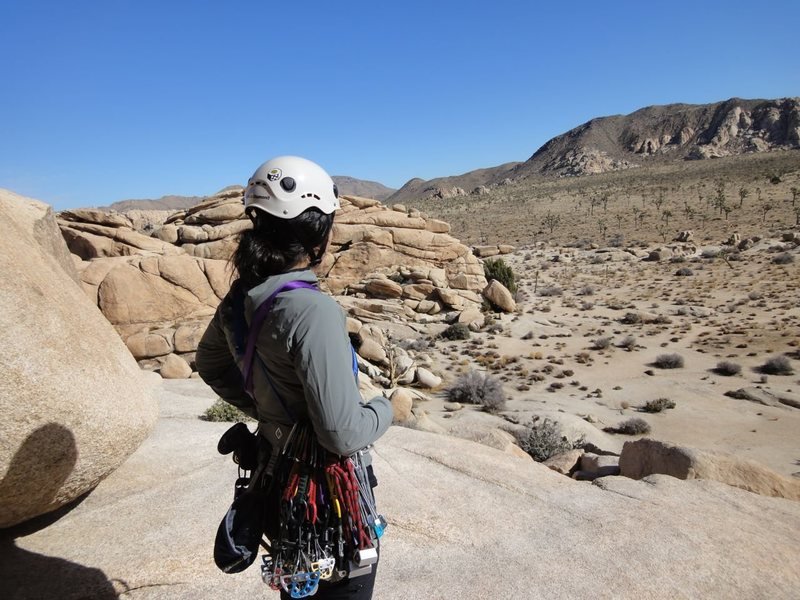 Rock Climbing Photo: On the descent of The Eye in Joshua Tree!