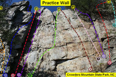 Rock Climbing Photo: Practice Wall  1)Black Flag (5.10d) 2)Heady Areted...