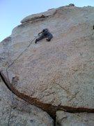 Rock Climbing Photo: TJ leading pie slice