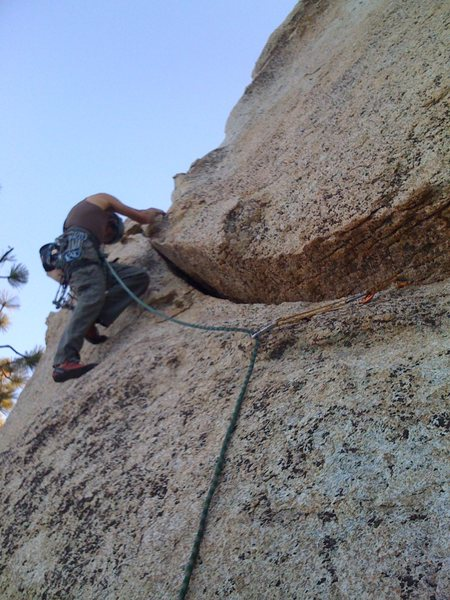 Rock Climbing Photo: TJ throwing some cams in