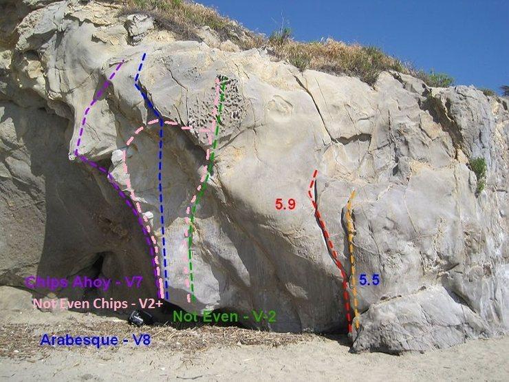 Rock Climbing Photo: Follow the pink line!