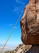 Rock Climbing Photo: The summit rappel.
