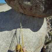 Rock Climbing Photo: The belay from the summit.