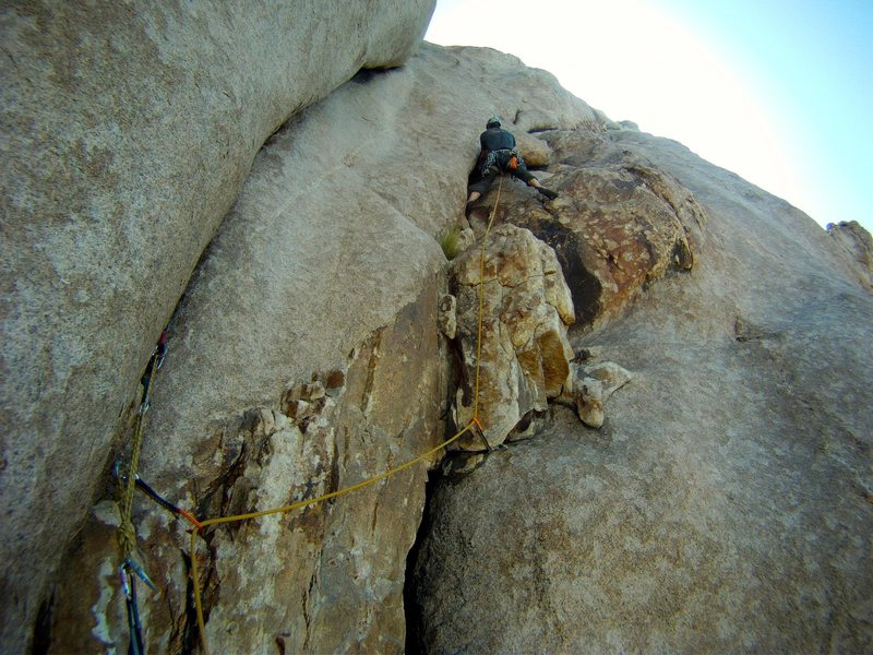Rock Climbing Photo: Starting out on the third pitch.